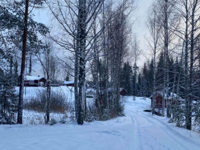 Karhukosken kämppä talvella